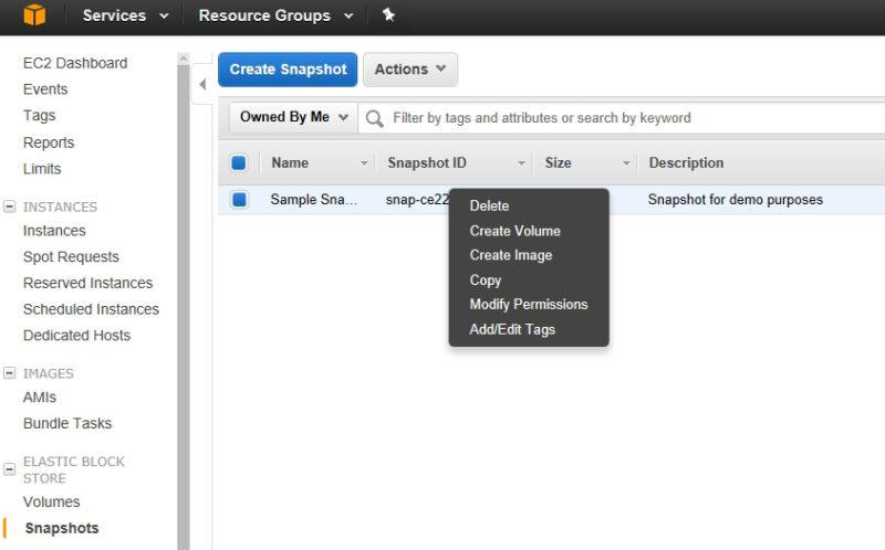 AWS Screenshot