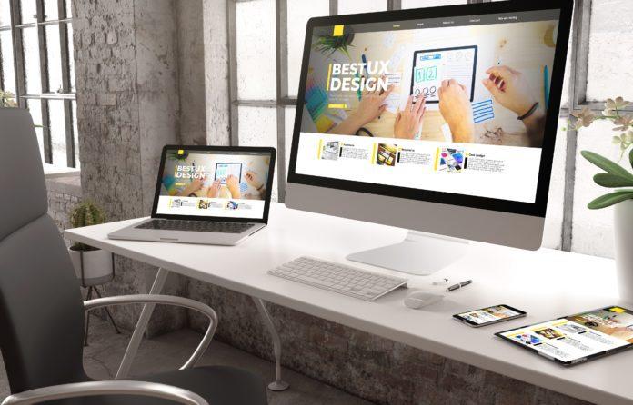 industrial office mockup ux design website